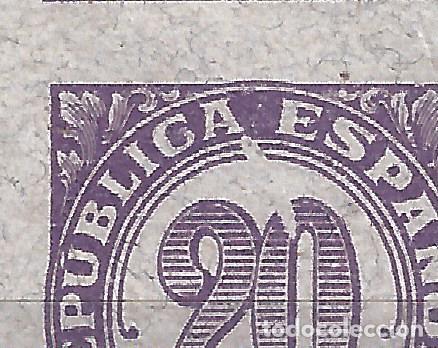 Sellos: EDIFIL 748S CIFRAS 1938. BLOQUE DE 4 SIN DENTAR (VARIEDAD...MANCHA BLANCA. VER DESCRIPCIÓN). LUJO. - Foto 2 - 109203347