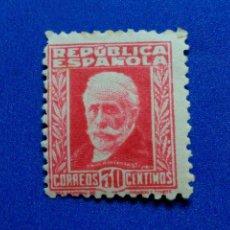 Sellos: NUEVO. EDIFIL 669. II REPÚBLICA ESPAÑOLA. AÑO 1932. PERSONAJES Y MONUMENTOS. PABLO IGLESIAS.. Lote 109518527