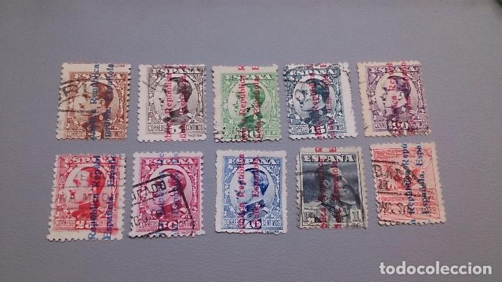 1931 - II REPUBLICA - EDIFIL 593/603 - SIN 601. (Sellos - España - II República de 1.931 a 1.939 - Usados)