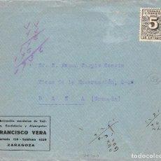 Sellos: ESPAÑA Nº 592.- AÑO 1931.- SOBRE DECORADO EN EL REVERSO.. Lote 110192651