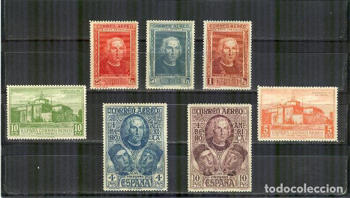 EDIFIL 559/65 DESCUBRIMIENTO AMERICA COLON AEREA 2 NUEVOS BUEN CENTRAJE 1930 (Sellos - España - II República de 1.931 a 1.939 - Nuevos)