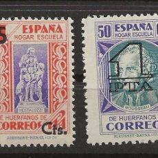 Sellos: R26.G2/ ESPAÑA NUEVOS ** 1938, EDF. 27/28, BENEFICIENCIA. Lote 111420182