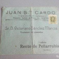 Sellos: JUAN B. CARDO - COMISIONISTA EN GANADOS - SOBRE CIRCULADO. Lote 111611643