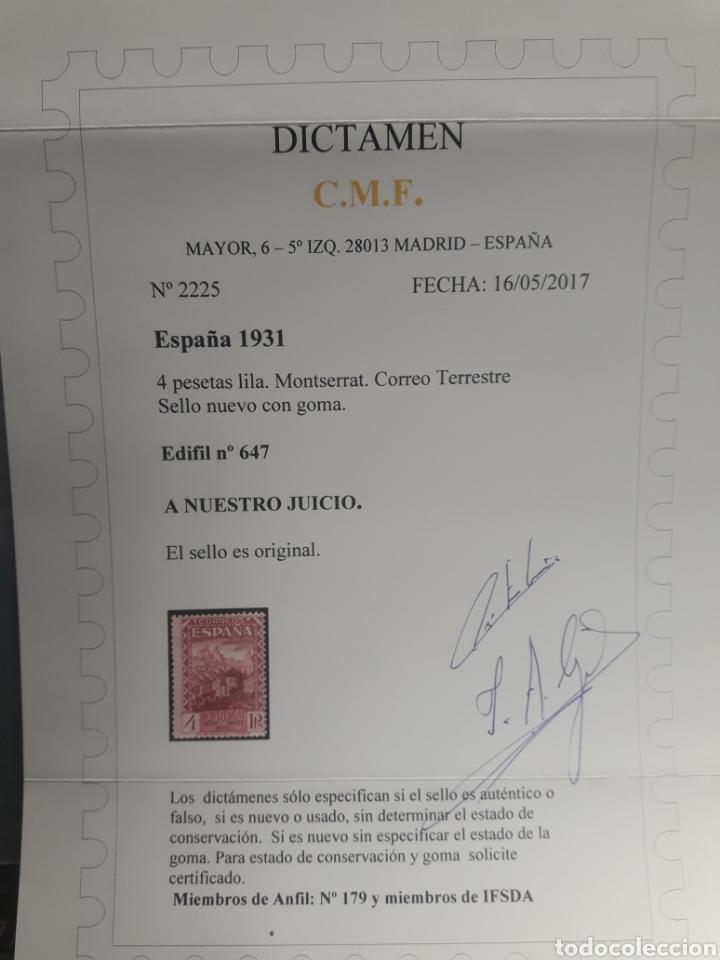 Sellos: SELLO de ESPAÑA CLASICO Edifil 647 * VALOR CLAVE NUEVO. Dictamen Garantia ORIGINAL CMF. OFERTA -50% - Foto 3 - 112165323