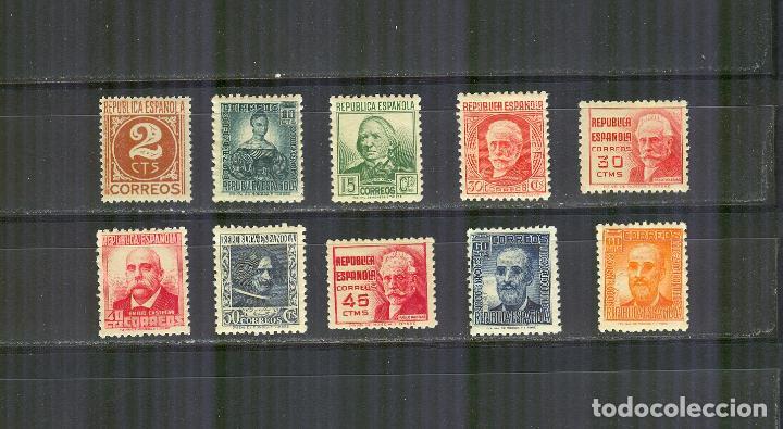 EDIFIL 731/40 CIFRA Y PERSONAJES NUEVOS SIN CHARNELA BUEN CENTRADO (Sellos - España - II República de 1.931 a 1.939 - Nuevos)