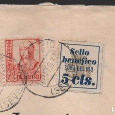 Sellos: LORA DEL RIO- (SEVILLA) 5 CTS, CARTA , ALLEPUZ Nº 2, VER FOTO. Lote 114251003