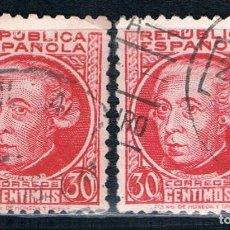 Sellos: ESPAÑA II REPÚBLICA 1931/1939 EDIFIL 687 DOS USADOS. Lote 114656891