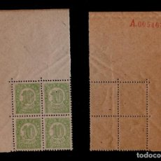 Selos: CL3-34 ESPAÑA - CIFRAS - EDIFIL Nº 746 B.4 EN BORDE DE HOJA VARIEDAD DE NUMERACION EN ROJO, EN EL RE. Lote 116308523