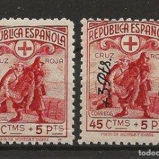 Sellos: R35.G15/ EDIFIL 767/68, MNH**, 1938, CRUZ ROJA ESPAÑOLA. Lote 116747375