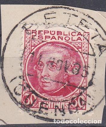 CUENCA.- SELLO Nº 687 CON MATASELLOS FECHADOR BETETA (Sellos - España - II República de 1.931 a 1.939 - Usados)