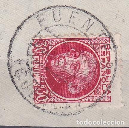 CUENCA.- SELLO Nº 687 CON MATASELLOS FECHADOR FUENTES (Sellos - España - II República de 1.931 a 1.939 - Usados)