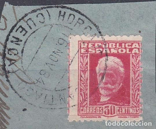 CUENCA.- SELLO Nº 669 CON MATASELLOS FECHADOR HORCAJO (Sellos - España - II República de 1.931 a 1.939 - Usados)