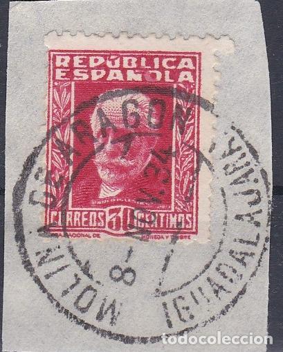 GUADALAJARA.- SELLO 669 MATASELLO FECHADOR MOLINA DE ARAGON (Sellos - España - II República de 1.931 a 1.939 - Usados)