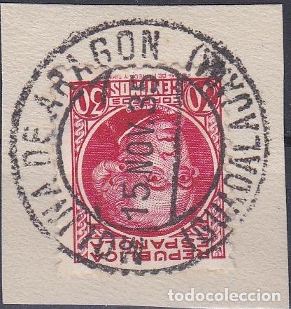 GUADALAJARA.- SELLO 687 MATASELLO FECHADOR MOLINA DE ARAGON (Sellos - España - II República de 1.931 a 1.939 - Usados)