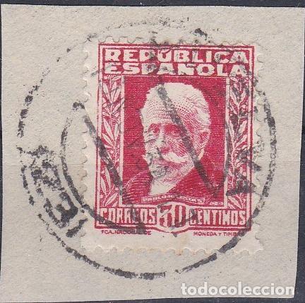 HUELVA.- SELLO Nº 669 CON MATASELLOS FECHADOR DE HUELVA (Sellos - España - II República de 1.931 a 1.939 - Usados)