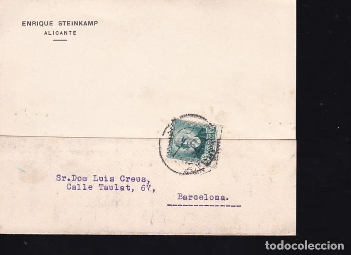 F21-102- TARJETA POSTAL ALICANTE-BARCELONA 1935 (Sellos - España - II República de 1.931 a 1.939 - Cartas)