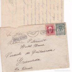 Sellos: CM2-77-REPÚBLICA CARTA BARCELONA-PUENTE DE CASTAÑEDA (GRANADA) 1932. CON TEXTO. Lote 118468543
