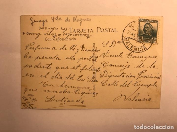 VALENCIA. TARJETA FRANQUEADA REPUBLICA ESPAÑOLA (A.1935?) (Sellos - España - II República de 1.931 a 1.939 - Cartas)