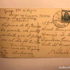 Sellos: VALENCIA. TARJETA FRANQUEADA REPUBLICA ESPAÑOLA (A.1935?). Lote 118709063