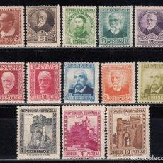 Sellos: ESPAÑA , 1932 EDIFIL Nº 662 / 675 / ** / , PERSONAJES Y MONUMENTOS . Lote 119037099
