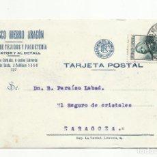Sellos: TARJETA POSTAL CIRCULADA 1935 DE CORDOBA A ZARAGOZA. Lote 119268311