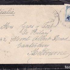 Sellos: F23-50-CARTA LUTO CALONGE (GERONA)- MELBOURNE (AUSTRALIA) 1933. Lote 119900251