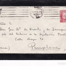 Sellos: F24-11- CARTA LUTO MADRID- PAMPLONA 1936. Lote 119977355