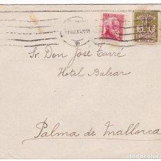 Sellos: F24-20- CARTA BARCELONA-PALMA DE MALLORCA 1935. Lote 119981443