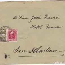 Sellos: F24-37-CARTA BARCELONA- SAN SEBASTIÁN 1931. PABLO IGLESIAS CON NÚMERO. Lote 119990311