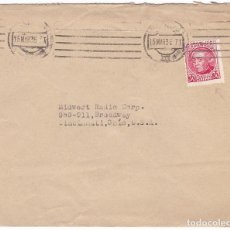 Sellos: F24-55- CARTA MADRID-USA 1936. SELLO JOVELLANOS VARIEDAD SIN PIE DE IMPRENTA. Lote 119994315