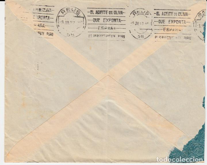 Sellos: CARTA CON SELLOS NUM. 682 Y BISECTADO -UNION COOPERATIVAS ELAB. DE VINO EN VILLARROBLEDO-ALBACETE - Foto 2 - 120677371