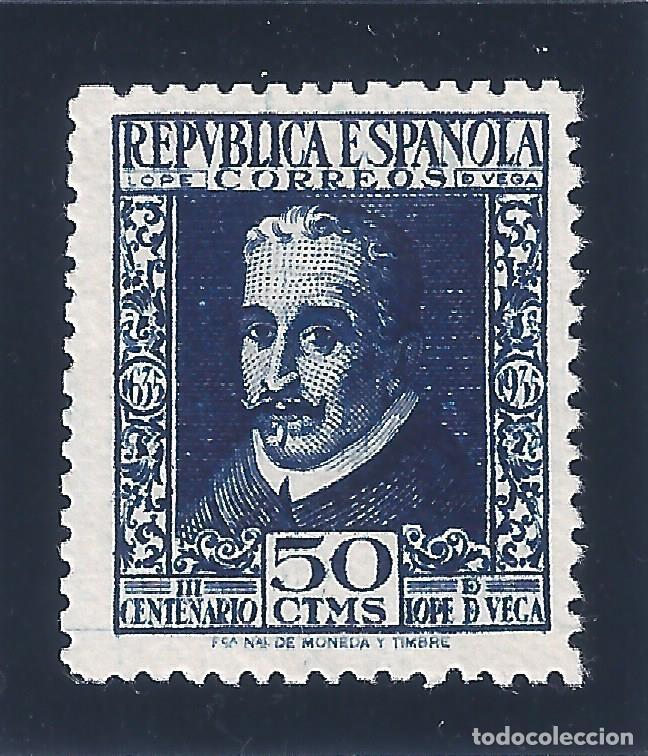 EDIFIL 692 LOPE DE VEGA 1935 (VARIEDAD 692DP..DENTADO 14 DE LÍNEA). V. CATÁLOGO ESPEC.: 64 €. MNG. (Sellos - España - II República de 1.931 a 1.939 - Nuevos)