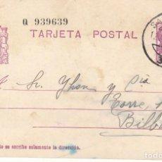 Sellos: TARJETA POSTAL: 1936 SANTANDER - BILBAO . Lote 120903231