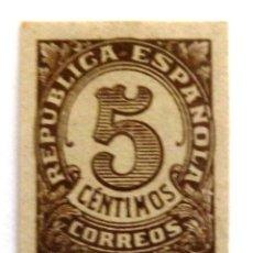 Sellos: SELLOS ESPAÑA 1938. EDIFIL 745. CIFRAS. SIN DENTAR. NUEVO CON CHARNELA.. Lote 121546155