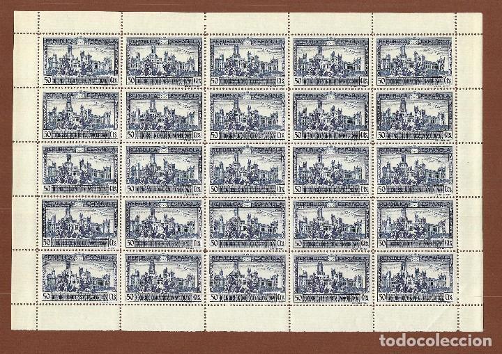 Sellos: II REPÚBLICA.1931.UNIÓN POSTAL PANAMERICANA.SERIE NUEVA EN PLIEGOS.Edifil 614-619 - Foto 5 - 122024447