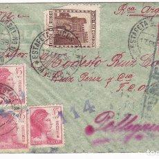 Sellos: F25-24- CARTA MADRID-ARGENTINA 1939. RARO FRANQUEO 10 PTAS. CENSURA. Lote 122098595