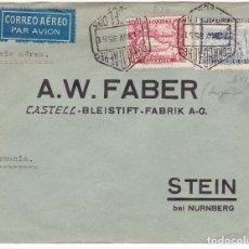 Timbres: F28-9- CARTA FABER CASTELL CORREO AÉREO BARCELONA-ALEMANIA 1935. RARO FRANQUEO. Lote 122098711