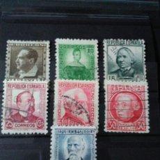 Sellos: REPÚBLICA ESPAÑOLA. 1933/1935. PERSONAJES. COMPLETA.. Lote 123275760