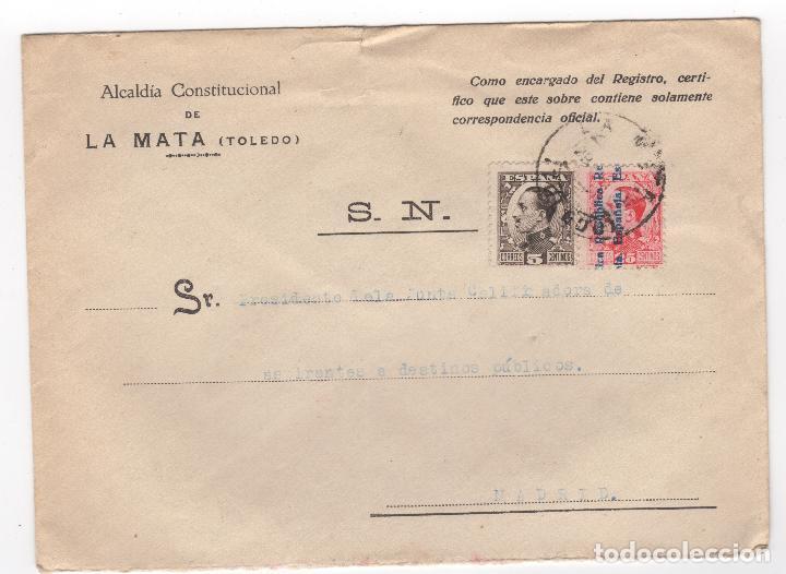 1931 SOBRE DIRIGIDO A MADRID DESDE AYTO. DE LA MATA (TOLEDO) (Sellos - España - II República de 1.931 a 1.939 - Cartas)