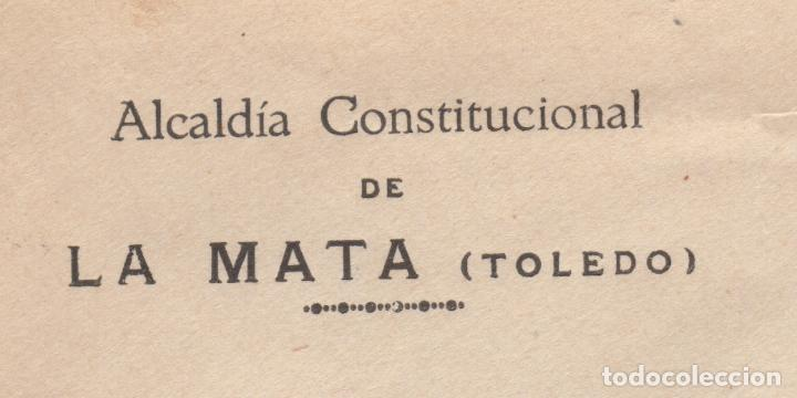 Sellos: 1931 sobre dirigido a Madrid desde Ayto. de La Mata (Toledo) - Foto 2 - 125126767