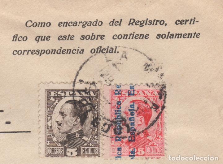 Sellos: 1931 sobre dirigido a Madrid desde Ayto. de La Mata (Toledo) - Foto 3 - 125126767