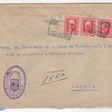 Sellos: 1931 SOBRE DIRIGIDO A MADRID DESDE AYTO. DE LOGROÑO. Lote 125128975