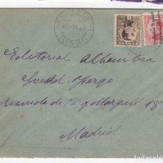 Sellos: 1933 SOBRE AZUL DIRIGIDO A MADRID DESDE AYTO. DE SAN ROMAN DE CAMEROS (LOGROÑO). Lote 125134295