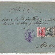 Sellos: 1931 SOBRE AZUL DIRIGIDO A MADRID DESDE AYTO. DE CAMPO LARA (BURGOS). Lote 125202423