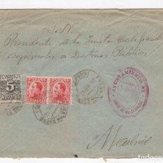 Sellos: 1931 SOBRE AZUL DIRIGIDO A MADRID DESDE AYTO. DE BAÑOS DE VALDEARADOS (BURGOS). Lote 125250847