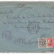 Sellos: 1931 SOBRE AZUL DIRIGIDO A MADRID DESDE AYTO. DE LERMA (BURGOS). Lote 125251619