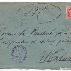 Sellos: 1931 SOBRE AZUL DIRIGIDO A MADRID DESDE AYTO. DE PALENCIA. Lote 125251859