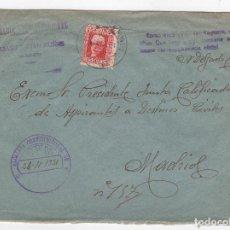 Sellos: 1931 SOBRE AZUL DIRIGIDO A MADRID DESDE AYTO. DE CASAS DE JUAN MUÑOZ (ALBACETE). Lote 125255443