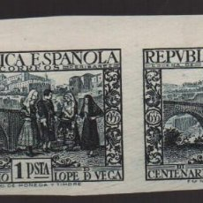 Sellos: REPUBLICA ESPAÑOLA, 1 PTA, PAREJA SIN DENTAR, EDF, Nº 693, VER FOTO. Lote 129739915
