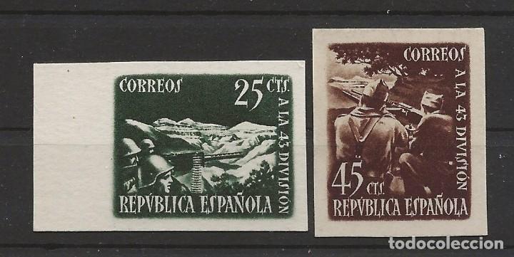 R41/ ESPAÑA, EDIFIL (*) 787/88, 1938 (Sellos - España - II República de 1.931 a 1.939 - Nuevos)